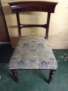 アンティーク椅子張り替え