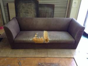 3人掛けソファの張替前